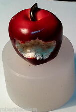 BITTEN APPLE -  silicone mould, food use, resin fimo polymer clay soap mold