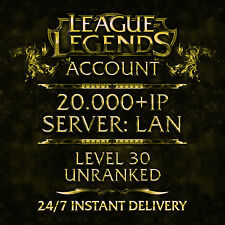 League of Legends compte LOL | EUW | Level 30 | 54 champs | 9 skins | rare