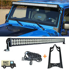 52Inch 300W LED LIGHT BAR+Mounting Bracket+ Wiring Kit  Fit For Jeep JK Wrangler