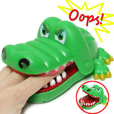 Game Xmas Gift Toy Big Crocodile Mouth Dentist Bite Finger Family Game For Kids
