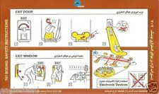 Safety Card - Saha Air - B707 (Iran) (S1696)