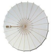 50x White Paper Umbrellas Wedding Party Parasols #13289 S-2194x50