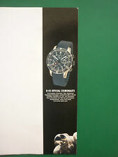 2007 PUB MONTRE WATCH FORTIS B-42 COSMONAUT COSMONAUTE ORIGINAL GERMAN ADVERT
