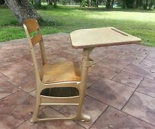 Vintage School Student Child Desk/Chair w/Cubby ENVOY American Seating