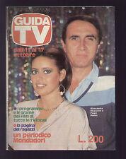 GUIDA TV MONDADORI 41/1981 ALESSANDRA MUSSOLINI E PIPPO BAUDO PROGRAMMI TV RADIO