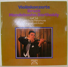 "VIOLINKONZERT BRUCH MENDELSSOHN JOSEF SUK KAREL ANCERL 12"" LP (f108)"