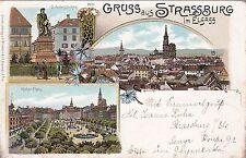 Gruss aus Strassburg AK 1901 Litho Strasbourg Alsace Frankreich France *1703311