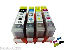 4 Refillable cartridge with chip for HP 564 XL Photosmart 5510 5514 6510 6515