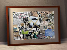 The X-Files 'Mulder's Wall'  Montage Poster 59.4 x 42 cm or 16.5 x 23.4 Inches