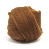 50g DYED MERINO WOOL TOP CHOCOLATE BROWN DREADS 64's SPINNING FELTING ROVING