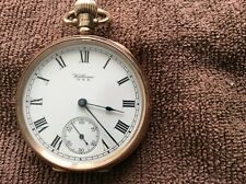 solid 9ct gold waltham pocket watch