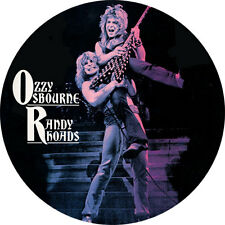CHAPA/BADGE OZZY OSBOURNE & RANDY RHOADS . pin button black sabbath hard rock
