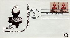 US FDC #1594 Liberty Torch, Andrews (5227)