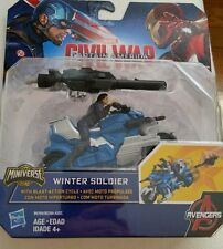 Marvel Captain America: WINTER SOLIDER action figure with motorcycle Fun Toy NEW