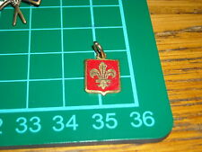 girl scout  boy scout stemma  antico  smalto rosso giglio