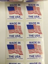 50 Made in the USA 1.25 x 1.25Label Labels Stickers Made in the USA eBay Labels