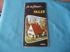 468 H FALLER 1960/61 DEPLIANT 14 PAGES  MAISONS MAQUETTES FIGURINES AVIONS...