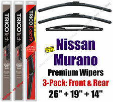 Wipers 3-Pack Premium Front Special Rear fit 2003-05 Nissan Murano 19260/190/14B