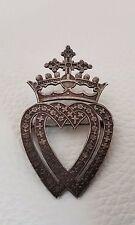 Mellerio Rare Broche Ancienne Argent Massif Coeur Vendéen XIXe