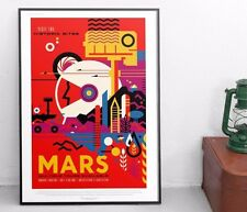 NASA Travel Poster - Mars - JPL / Exoplanet Art / Print. HD Lustre.