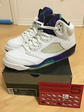 2006 Nike Air Jordan V 5 Retro LS WHITE EMERALD GRAPE ICE PURPLE