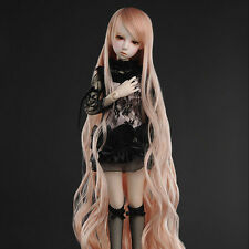 "Dollmore 1/4 BJD OOAK MSD Wig (7-8)""  Rapunzell Long Wig (Coral)"
