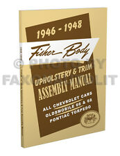 1946 1947 1948 Olds 60 66 68 Upholstery and Trim Assembly Manual Oldsmobile Body