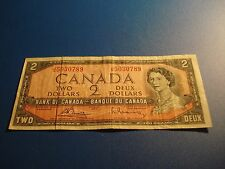 Two dollar note Canada 1954 circulated - Canadian 2 dollar - JG5030789