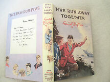 Enid Blyton Famous FIVE RUN AWAY TOGETHER 1953 HC copy jacket Eileen Soper