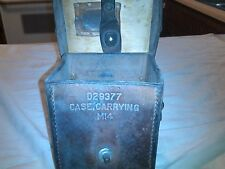 WW2 M14 Mortar Sight Carrying Case D29377 Brown Leather world war 2 II