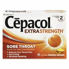 Cepacol Extra Strength Sore Throat Honey Lemon 16 Lozenges