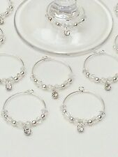 50 Crystal Drop Wine Glass Charms. Wedding, Favours, Christening