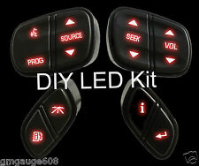 GM Chevrolet Steering Wheel Switch Control Button DIY LED Upgrade Kit, Red