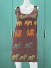 Vintage Pudding Shop Dress Animal Shift Tunic Hand Pockets Top Costume