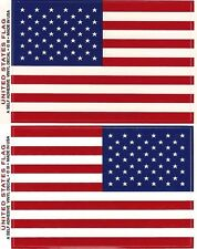 USA Flag Decal Set of TWO (Right & Left) 3-1/2x5 Made in USA