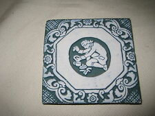 "Moravian Pottery Tile Works 3-7/8"" Mercer Tile Bucks County PA 1990"
