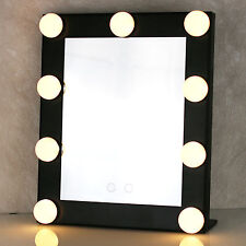 Lighted Make Up Vanity: Led Bulb Vanity Lighted Hollywood Makeup Mirror with Dimmer Stage Beauty  Mirror,Lighting
