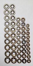 50 piece assortment of starlock washers (10 each of 3mm, 4mm, 5mm, 6mm & 8mm)
