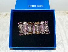 New $150 HEIDI DAUS Purple Pink Brown Crystal PASSION FOR PRETTY Pin Brooch