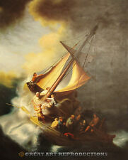 """""""Christ in the Storm on the Sea of Galilee"""", Rembrandt, Reprod. in Oil,  40""""x32"""""""