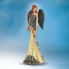 Stunning Midnight Elegance Angel Moonlight Garden Tiffany Bradford Exchange SALE