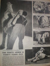 Photo article pantomime horse in Goody Two Shoes Coliseum london 1945