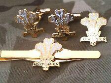 Royal Regiment Of Wales Gemelos, insignia, clip de corbata Rrw Militar Set De Regalo