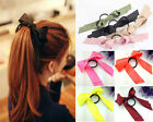 Cute Women Multicolor Satin Ribbon Bow Hair Band Rope Scrunchie Ponytail