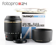 Sony Tamron 55-200 mm 4-5.6 di II ld macro + embalaje original + Top (236254)