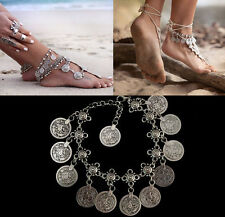 Sexy New Gold Coin Ankle Foot Chain Anklet Bracelet Barefoot Sandals Beach Hot