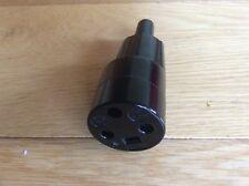 Vintage Black Plastic Ashley Kettle Plug.  3 Pin.