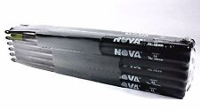 12-Pair BRICK VIC FIRTH Nova Black 5A Wood Tip DRUM STICKS N5AB Hickory Bulk NEW