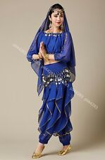 Belly Dance Long Sleeves Top & Harem Pants Trousers Outfits Party Fancy Costumes
