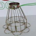 Brass Wire Bulb Cage, Clamp On Lamp Guard, Vintage Trouble Lights Industrial New